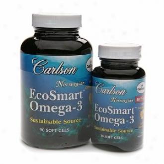 Carlson Norwegian Ecosmart Omega-3, Value Pack, Softgels