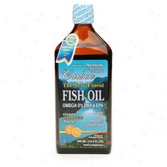 Carlson The Very Finest Fish Oil Omega -3's Dha & Epa, Orange