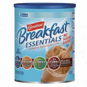 Carnation Breakfadt Essentials Compllete Nutritional Drink, No Sugar Added, Rich Milk Chocolate