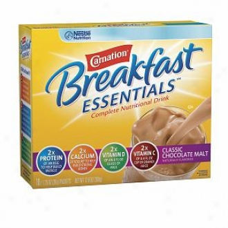 Carnation Breakfast Essentials Complete Nutritional Driink, Packets, Classic Chocolate Malt