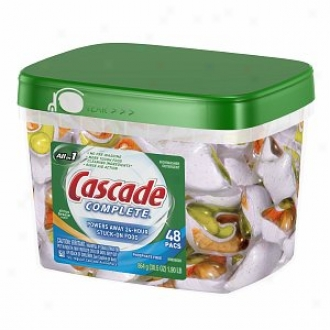 Cascade Complete 2-in-1 Actionpacs Dishwasher Detergent, Citrus Breeze