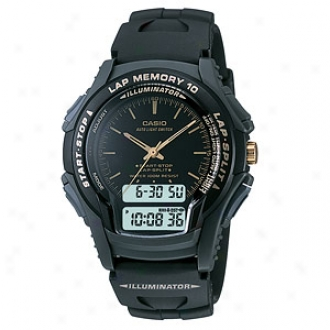 Casio Sport Watch 100m Water Resistant 10 Lap Memory