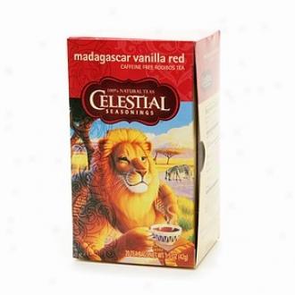 Celestial Seasonings Tea Madagascar Vanilla Red Caffeine Free Rooibos Tea