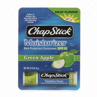 Chapstick Lip Moisturizer Skin Protectant Lip Balm, Spf 15, Green Apple