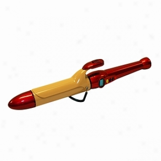 Chi Air Texture Tourmaline Ceramic Curling Iron 1 1/2 , Fire Red