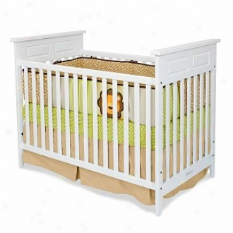 Child Craft Logan Orally transmitted Stationary Crib, Matte White