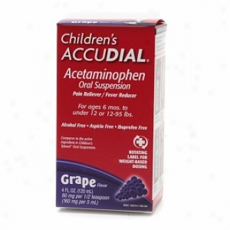 Childrrn's Accudial Pain Reliever/fever Reducer Acetaminophen Spoken Suspension, Grae