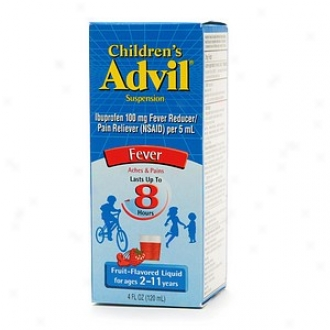 Children's Advil Ibuprofen Fever Reducer/pain Reliever Oral Suspension, Fruit Flavor