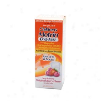 Children's Motrin Ibuprofen Oral Suspension, Dye-free Berry Flavor Liquid
