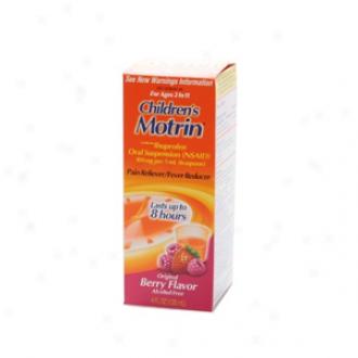 Children's Motrin Ibuprofen Oral Hanging, Fever Reducer/pain Reliever, Berry Liquid