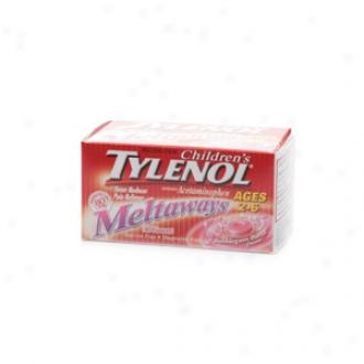 Children's Tylenol Fever Reducer & Pain Reliever, Ages 2-6, Meltaways, Bubblegum Burst