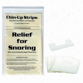Chin-up Strip For Dry Mouth And Snoring, Whiet Horseshoe Shape #11130