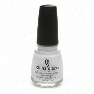 China Glaze Nail Laqher With Hardeners, White On White #023