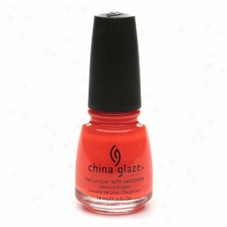 China Glaze Neon Nail Laquer With Hardeners, Orange Knockout #1005