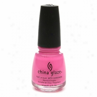 China Glaze Neon Nail Laquer Through  Hardeners, Shocking Pink #1003