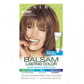 Clairol Balsam Color Liquid Haircolor, Light Bronze Brown 608b