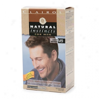 Clariol Natural Instincts For Men Natural Healthy Looking Hoary Coverage, Light Brown M009