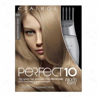 Clairol Nice 'n Easy Perfect 10 Permanent Haircolor, Medium Champagne Blonde 8.5a