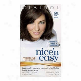 Clairol Nice 'n Easy With Cokor Blend Technology Permanent Color, Natural Dark Brown 120
