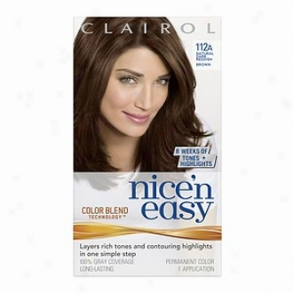 Clairol Nice 'n Easy Upon Color Blend Technology Permanent Color, Original Dark Reddish Brown 112a