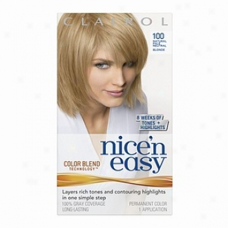 Clairol Nice 'n Gentle With Color Bldn Technology Permanent Color, Natural Pale Neutral Blonde 100