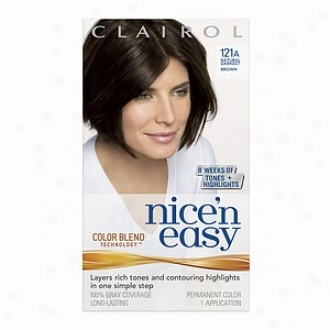 Clairol Nice 'n Easy With Color Blend Technology Permanent Colr, Natural Darkest Brown 121a