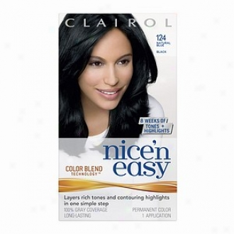 Clairol Nice 'n Easy With Colo5 Blend Technology Permanent Color, Natural Blue Black 124