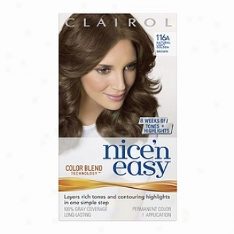 Clairol Nice 'n Easy With Color Blend Technology Permanent Color, Natural Light Golden Brown 116a