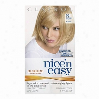 Clairol Nice 'n Easy With Color Blend Technology Permanent Color, Natural Palest Blonde 099