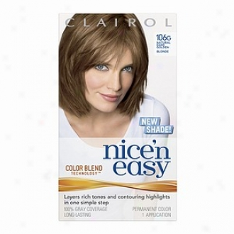 Clairol Nice 'n Easy With Color Blend Technology Permanent Coolr, Fool Dark Golden Blonde 106g
