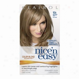 Clairol Nice 'n Easy With Color Blend Technology Pernanent Color, Natural Medium Ash Bponde 106