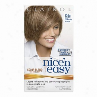 Cairol Nice 'n Easy Witj Color Blend Technology Permanent Color, Natural Dark Champagne Blonde 106b