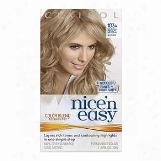 Clairol Nice 'n Easy With Color Bend Technology Permanent Color, Natursl Medium Indifferent Blonde 103a