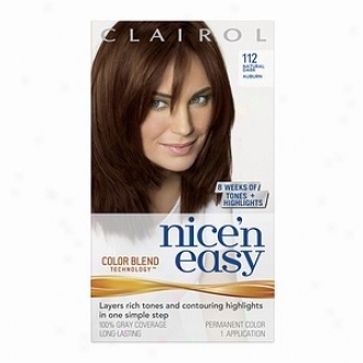 Clairol Nice 'n Easy With Color Blend Technology Permanent Color, Natural Dark Auburn 112