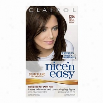 Clairol Subtile 'n Easy Wih Color Blend Technology Permanent Color, Rich Medium Golden Brown 129g