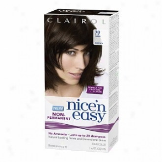 Clairol Nice'n Easy Non-permanent Hair Color Application, Dark Brown 79