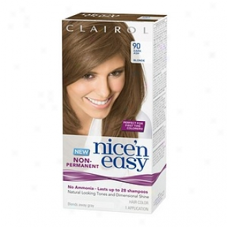 Clairol Nice'n Easy Non-permanent Hair Color Application, Dark Ash Blonde 90