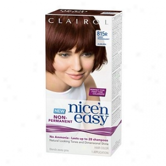 Clairol Nice'n Easy Non-permanent Hair Color Application, Deep Mahogany Auburn 815r