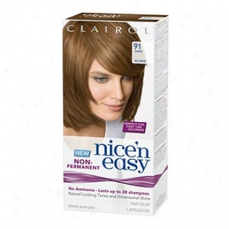 Clairol Nice'n Easy Non-permannt Hair Color Application, Mysterious Blonde 91