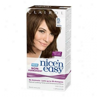 Clairol Nice'n Easy Non-permanent Hair Color Application, Light Ash Brown 75