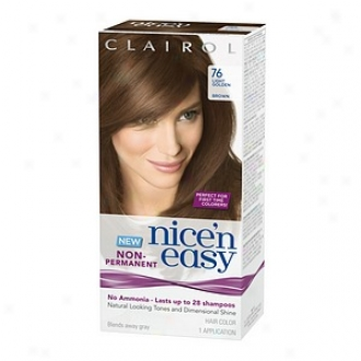 Clairol Nice'n Easy Non-permanent Hair Color Application, Light Golden Brown 76