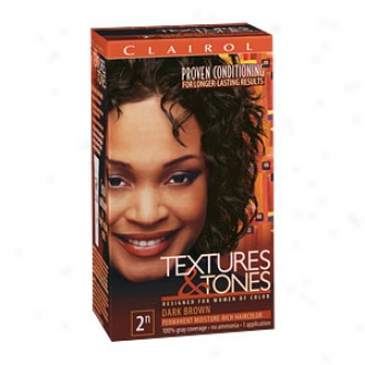 Clairol Fabric & Tones Permanent Moisture-rich Hair Color, Dark Brown 2n