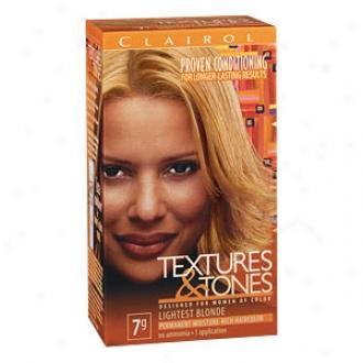 Clairol Textures & Tones Permanent Moisture-rich Hair Color, Lightest Blonde 7g