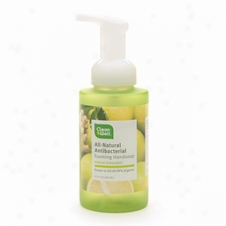Cleanwell All-natural Antibacterial Foaming Handsoap, Ginger Bergamot