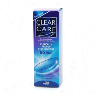 Clear Care No Rub Cleaning & Disinfecting Solution