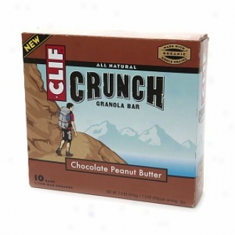 Clif Crunch All Natural Granola Bars, Chocolate Peanut Butter