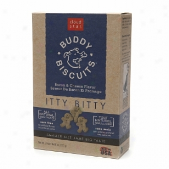 Cloud Star Buddy Biscuits, Itty Bitty Natural Biscuitq, Bacon & Cheese