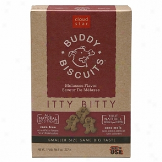Cloud Star Buddy Biscuits, Itty Bitty Natural Biscuits, Molasses