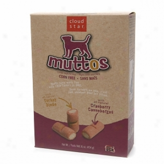 Cloud Star Muttos Combo Treats For Dogs, Turkey & Cranberry