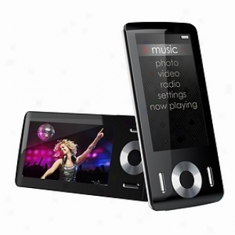 Coby Electdonics 8 Gb 2.9  Black Widescreen Video Mp3 Player Mp815-8g
